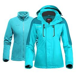 OutdoorMaster Women's 3-in-1 Ski Jacket - Winter Jacket Set