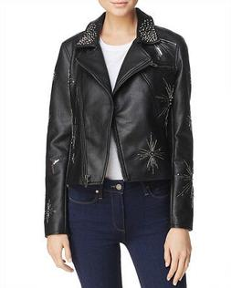 BLANK NYC $198 NEW 3295 Embellished Faux Leather Moto Womens