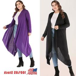 2X 3X 4X 5X Lady/Women Long Cardigan Loose Sleeve Outwear Ja