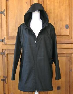 3X Womens Hooded Jacket Charcoal Houndstooth Free Tech Activ
