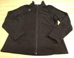 $79 NWT Spyder Womens Fleece 1/4 Zip Pullover Jacket Black L