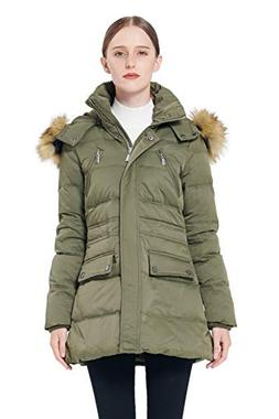 Orolay Women's Thickened Down Jacket Winter Coat ArmyGreen L