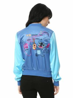 Women's Disney Lilo and Stitch Jacket Coat Bomber Aloha Hawa