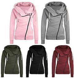 Womens Hoodie Jacket Coat Zipper Hooded Sweatshirt Jumper Ca