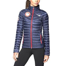 Nike Women's Aeroloft 800 Summit Olympics USA Jacket NAVY AU