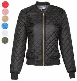 AG Womens Quilted Bomber Jacket by 9 Crowns Essentials