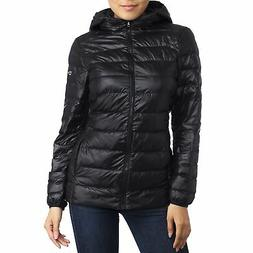 AlpineSwiss Womens Hooded Down Alternative Puffer Jacket War