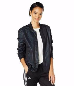adidas Women's Athletics Clima Bomber Jacket, Black/Unity Bl