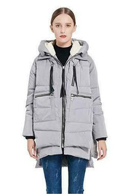 Authentic Women Orolay thicken Padded Coat Hooded Jacket Par