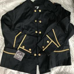Ava & Viv Womens Jacket Size 2x Military Black Gold New Nwt