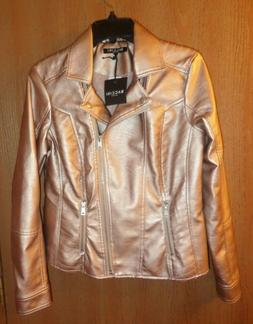 Baccini Womens Jacket Size M Long Sleeve Rose Gold NWT
