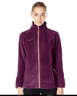COLUMBIA Benton Springs Zip Fleece Jacket Women L Purple Dah