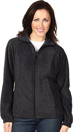 Columbia Womens Benton Springs Full Zip Jacket -Medium Charc