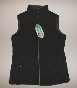 FREE COUNTRY Black Reversible Quilted Vest XXL 2XL Womens NW