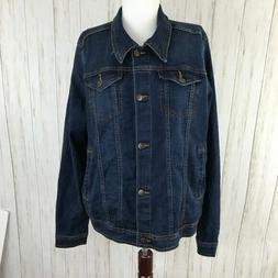 Wrangler Blue Denim Jean Jacket Womans Size XXL 2XL NEW