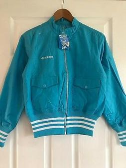 Brand New Womens Adidas Blue Cotton Bomber Jacket | Size 12