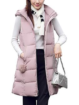 Sobrisah Women's Casual Hooded Coat Zipper Up Thickened Warm