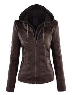 Come Together California CTC Womens Faux Leather Zip Up Moto