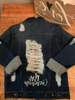 Custom Hand Embroidered Customized Oversized Women's Denim J