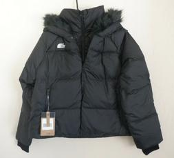 The North Face Dealio Women's 550 Fill Crop Black Hooded D