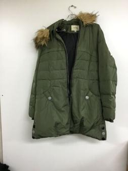 Orolay down jacket with faux fur trim hooded women's size me