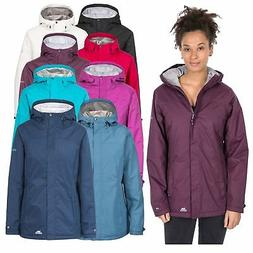 Trespass Edna Womens Waterproof Jacket Padded Raincoat with