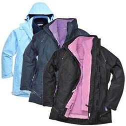 Portwest Elgin Ladies Jacket Rain Coat Rain Waterproof Taped