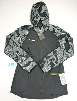 Nike Essential Flash Jacket Womens Black Grey Reflective Run