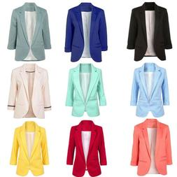 fashion womens long sleeve cardigan casual lapel