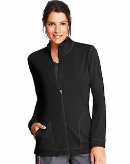 Hanes Fleece Zip Up Jacket Sport Performance Women's Pockets