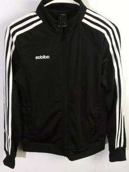Adidas Full Zip Up Jacket Black and White Women's Size Small