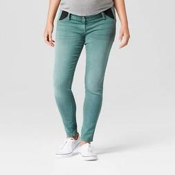 TARGET Isabel Maternity Green Wash Denim Jeans Skinny Fit In