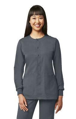 Grey's Anatomy Women's 4450 Round Neck Snap Front Scrub Jack