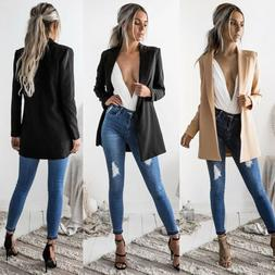 Hot Fashion Women Ladies Suit Coat Business Blazer Long Slee