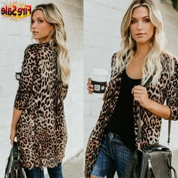 hot women s autumn leopard print sweater