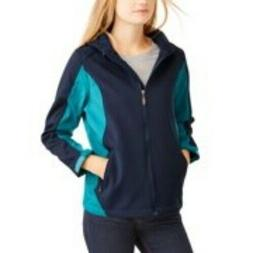I5 Apparel Women's Block Bonded Soft Shell Jacket with Hood