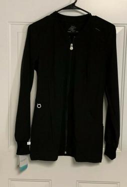Cherokee Infinity Black Warmup Jacket Antimicrobial Size XS