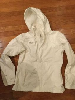 The North Face Jacket Hyvent Womens Med White Hooded Rain Sl