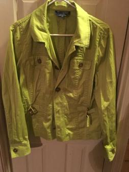 Jones New York Womens Jacket Lime Green Size XL Stretch.Neve