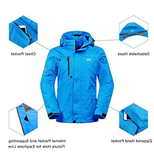 Wantdo Women's Ski Cotton Parka with Detachable Puffer Casual wear