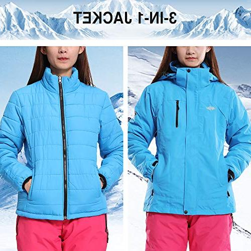 Wantdo Women's Thick Ski Interchange Cotton Parka with Detachable Puffer Liner Casual