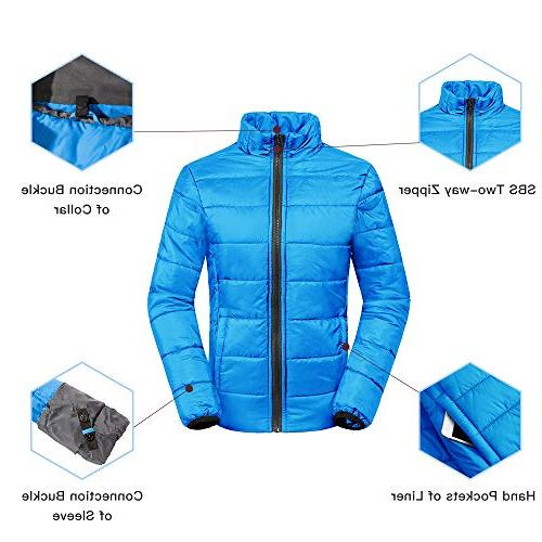 Wantdo Women's Thick Ski Cotton Winter with Detachable Puffer Casual wear