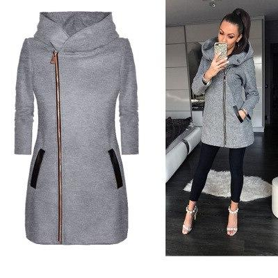 2019 winter Fashion Solid Zipper Hoodie <font><b>women</b></font> Velvet Coat <font><b>large</b></font> S-5XL