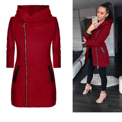 2019 Coat Solid Color Hoodie <font><b>women</b></font> Casual Velvet Coat <font><b>large</b></font> S-5XL