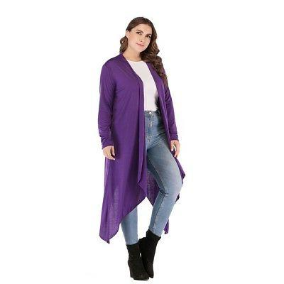 Lady/Women Long Cardigan Sleeve Jacket Coat Top