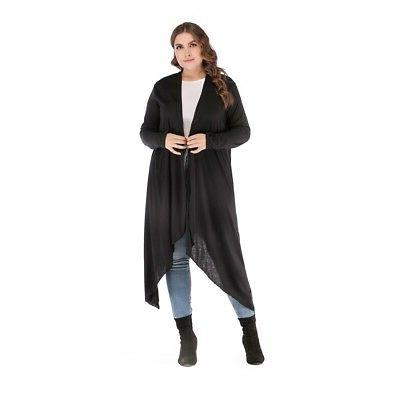 2X 4X Lady/Women Cardigan Loose Sleeve Coat Top