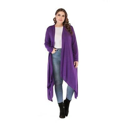 2X 3X Lady/Women Cardigan Sleeve Jacket Coat