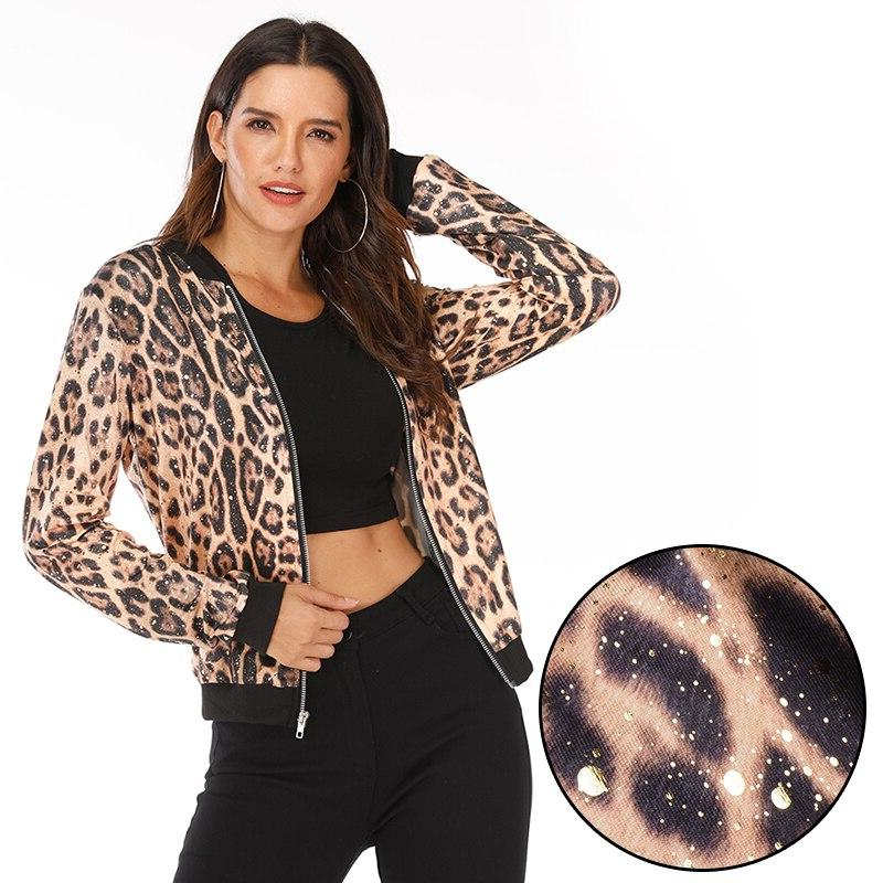 5XL <font><b>Large</b></font> <font><b>Jacket</b></font> Printed Long Sleeve Bomber Coat Female