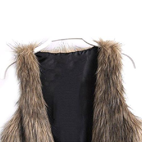 Dikoaina Fur Jacket Coat Sleeveless