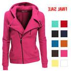 Doublju Womens Fleece Zip-Up High Neck Jacket